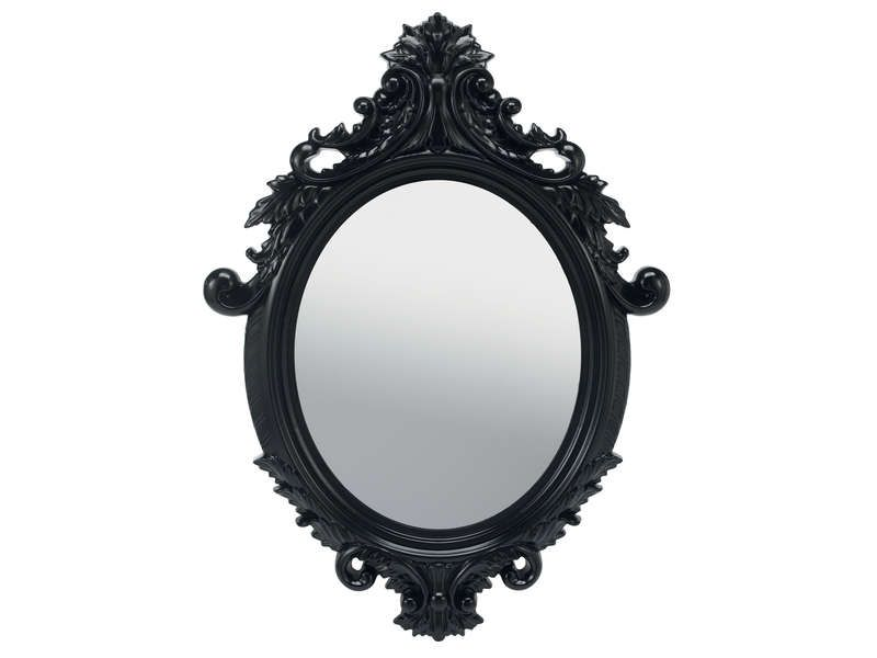 Conforama miroir 55x75 cm so pretty coloris noir vente for Miroir ikea noir