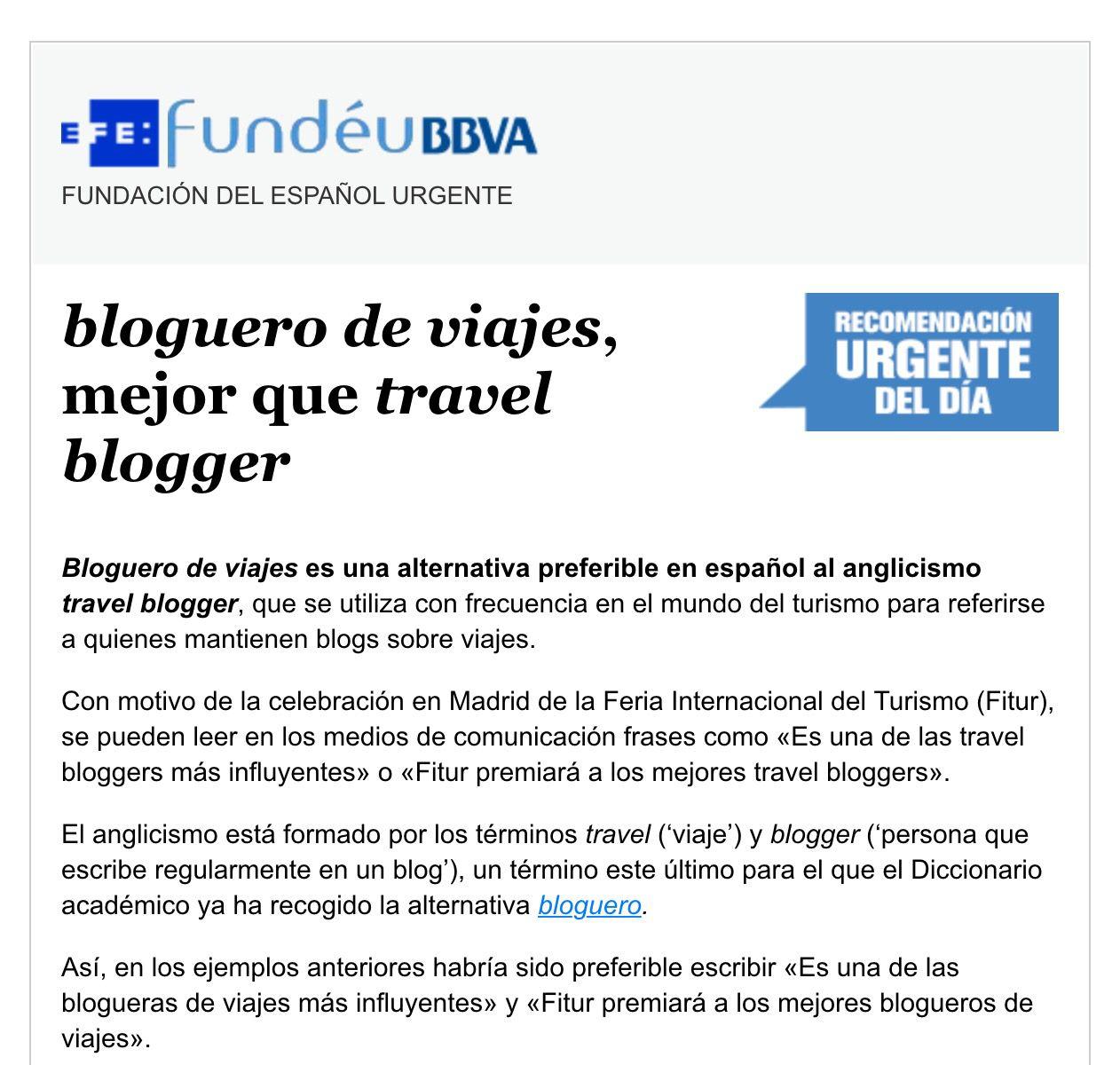 Bloguero de viajes