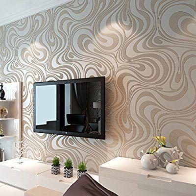Schon Moderne Luxus Abstrakt Kurven Glitzer Vlies 3D Struktur Tapete Für  Schlafzimmer Wohnzimmer TV Hintergrund Wand Wandmalereien