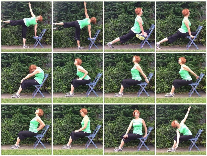 Green Chair Yoga with Gaileee. Adapting yoga poses to the