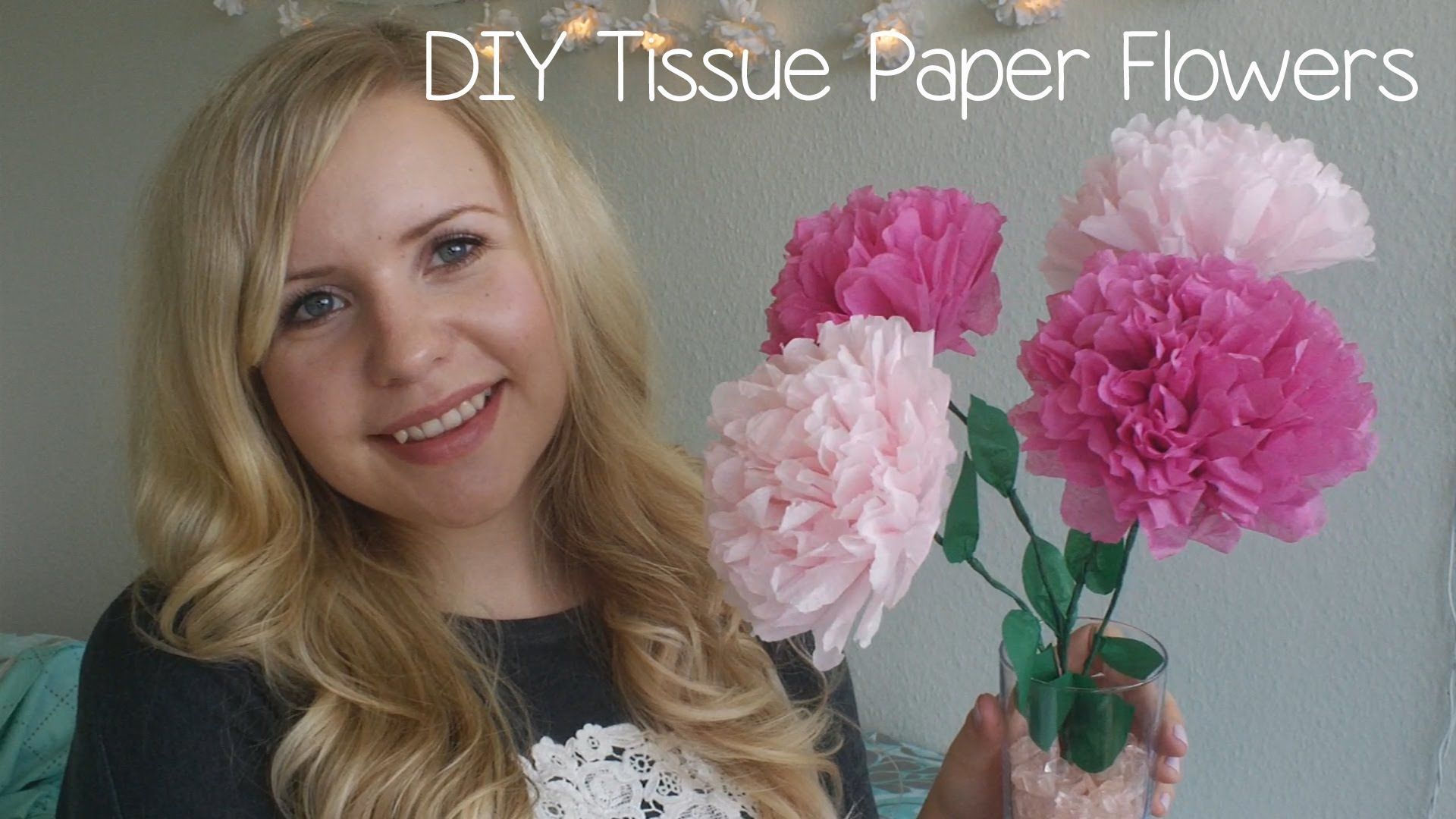 Pretty Little Diy Tissue Paper Flower Great For Decorating In