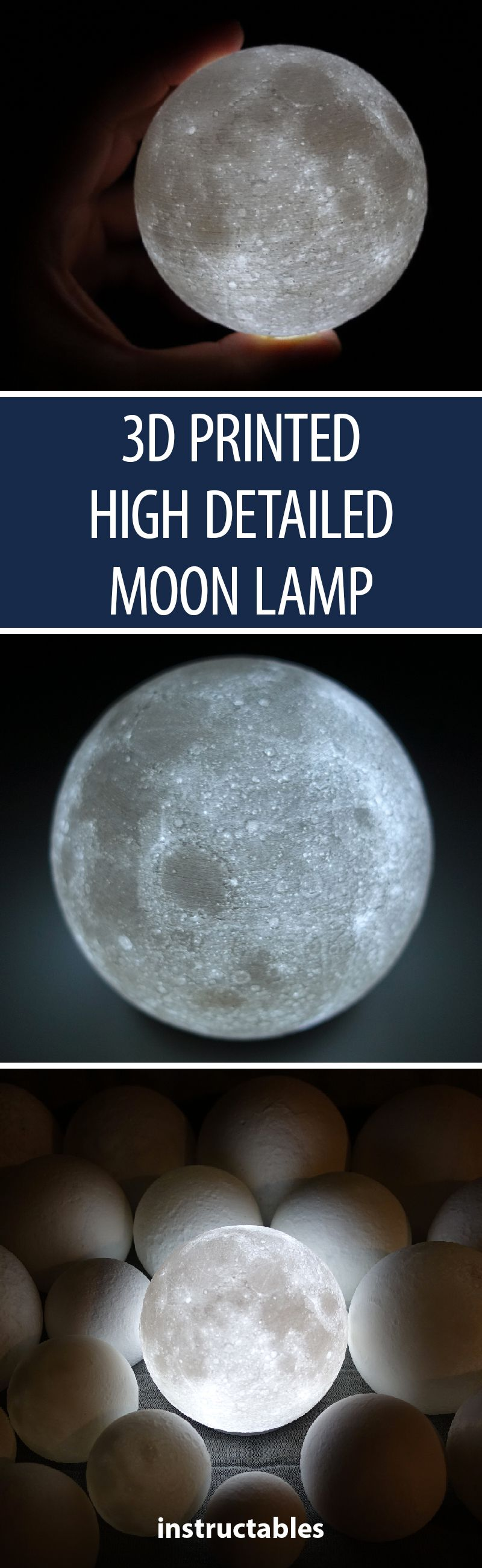 High Detailed Moon Lamp 3d Printing 3d Printing Diy Lamp