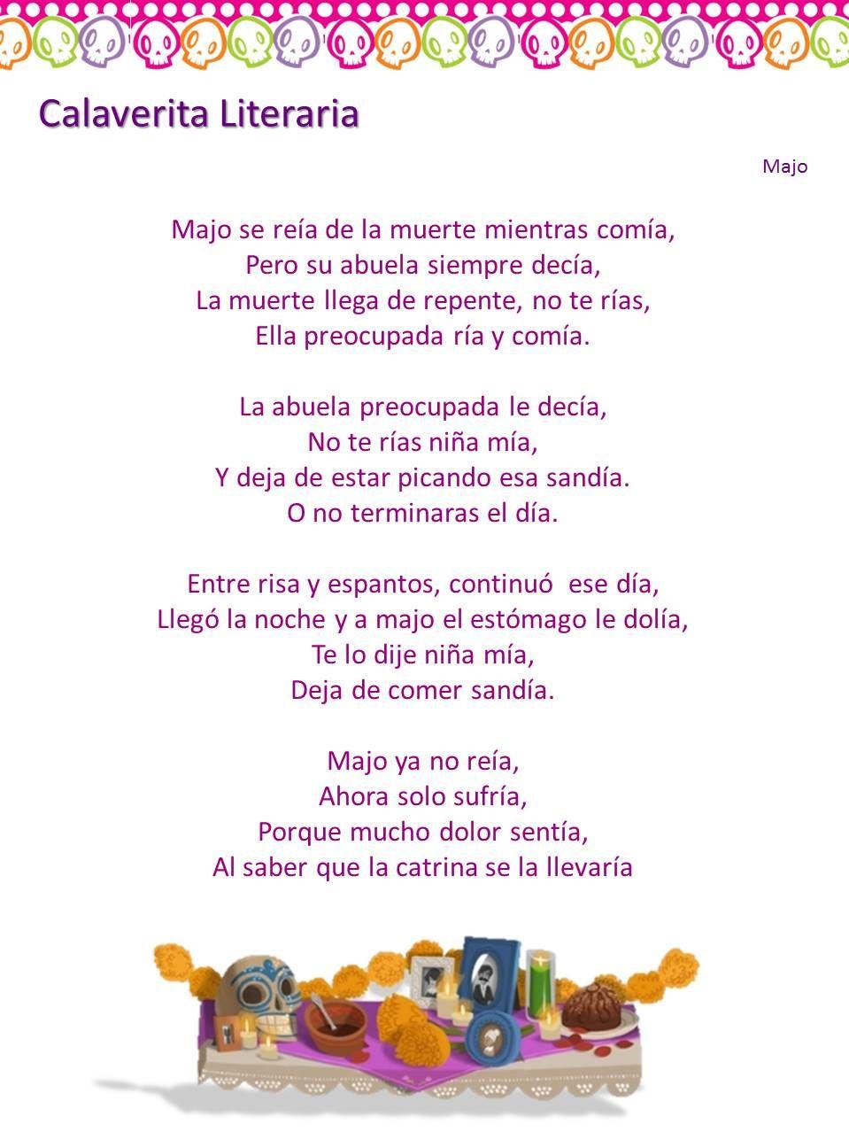 Calaveras Literarias Noviembre 2013 TIC's | Dia de los muertos ...