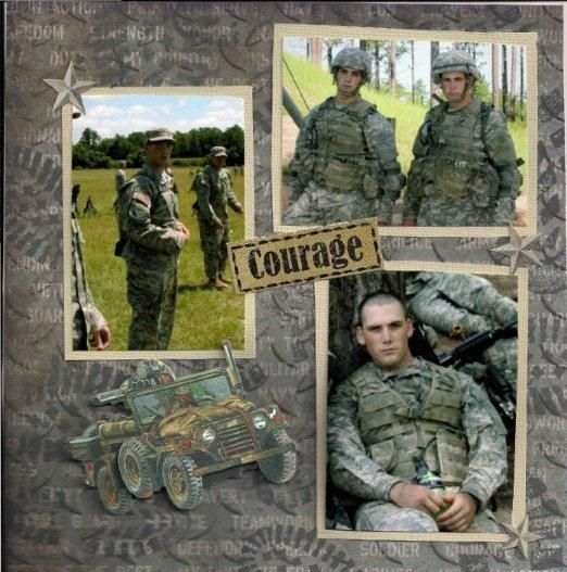 Army Scrapbook Scrapbooking Layouts Pinterest Scrapbook Army