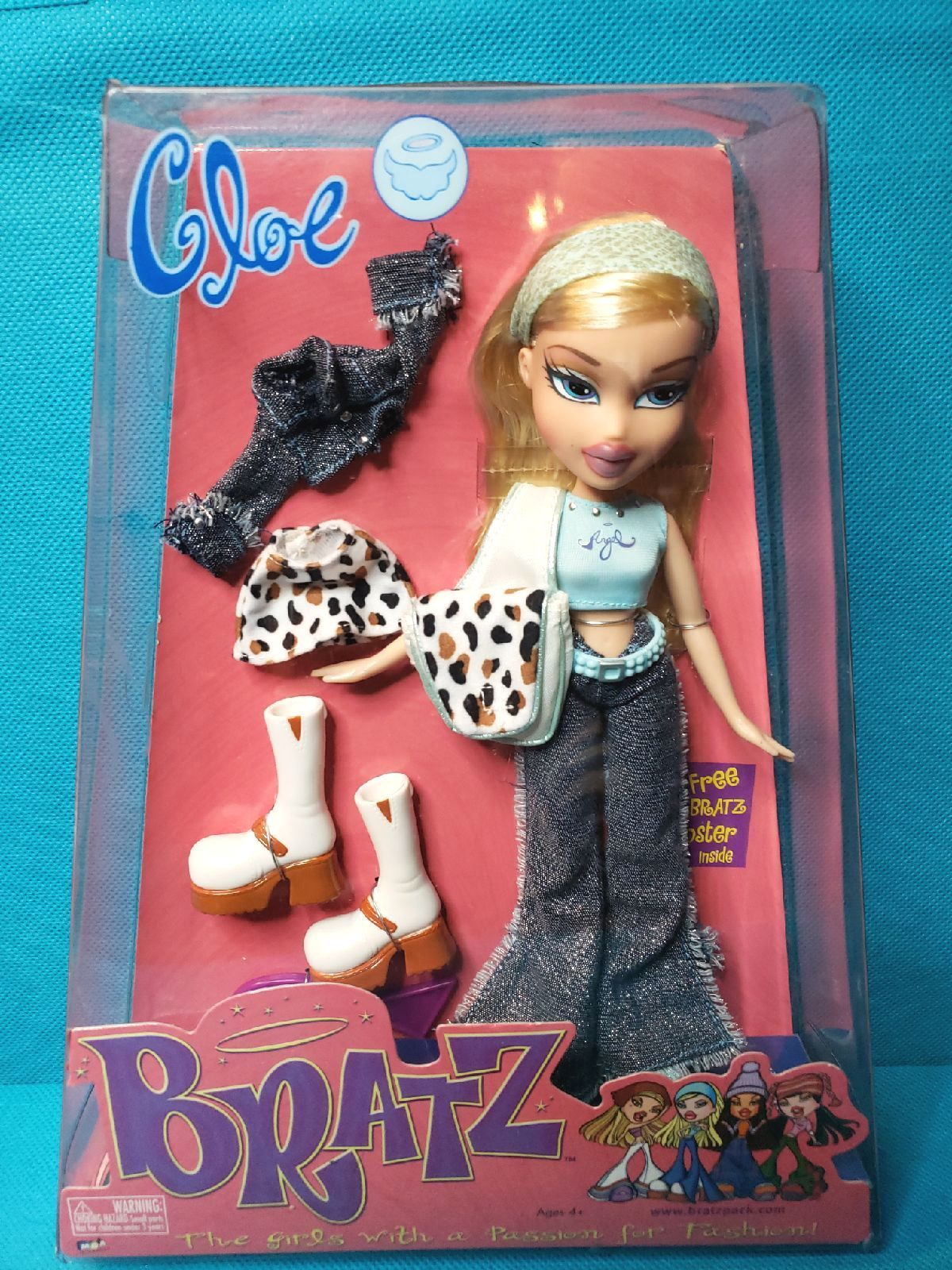 Bratz Cloe Doll First Edition In New Condition She Is Rare And Very Hard To Find From 2001 The Box Shows Some Wear Due To S Brat Doll Bratz Doll Bratz Girls