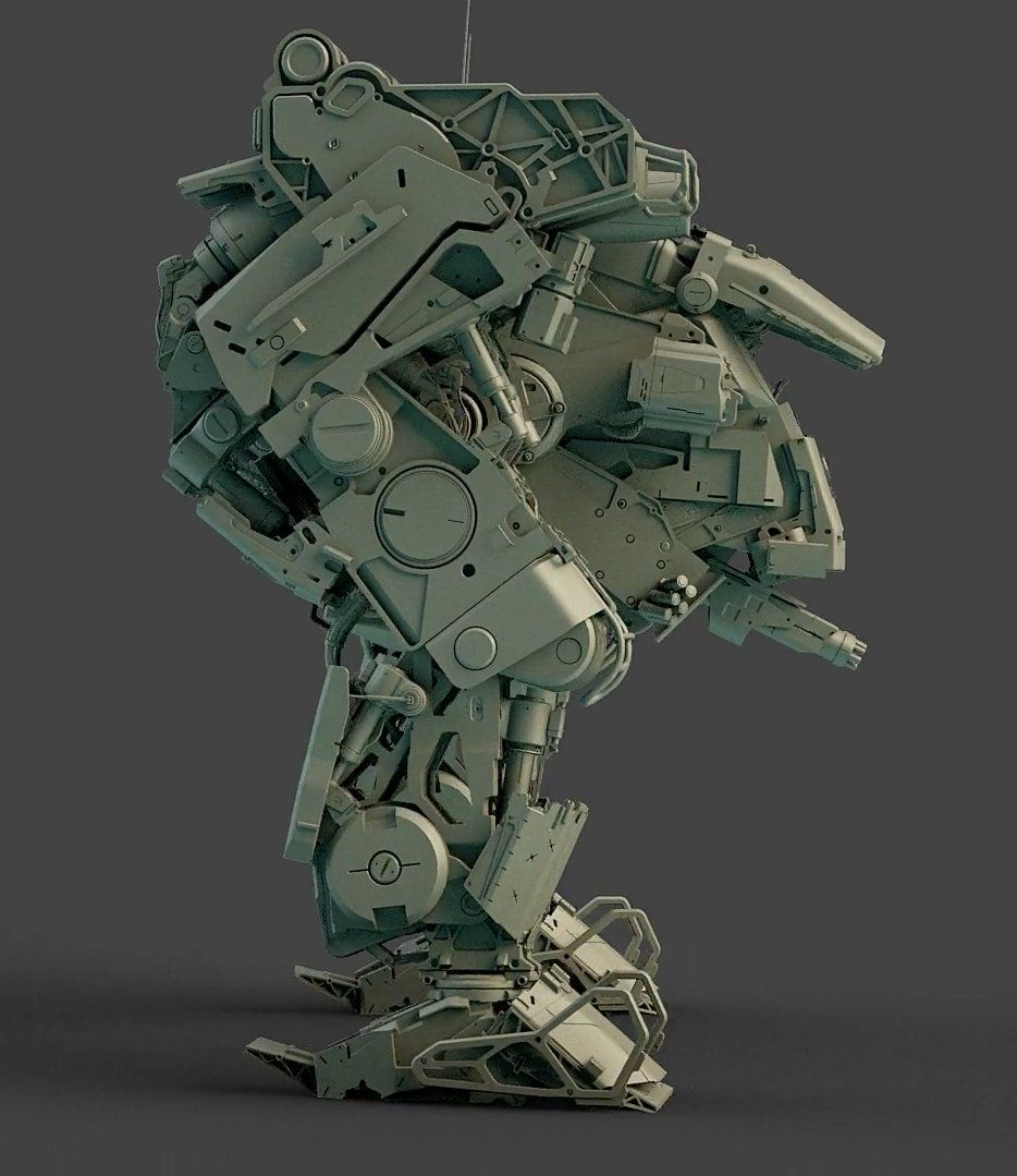 Character Design Cinema 4d Tutorial : Mech tutorial commissioned work for issue of d world
