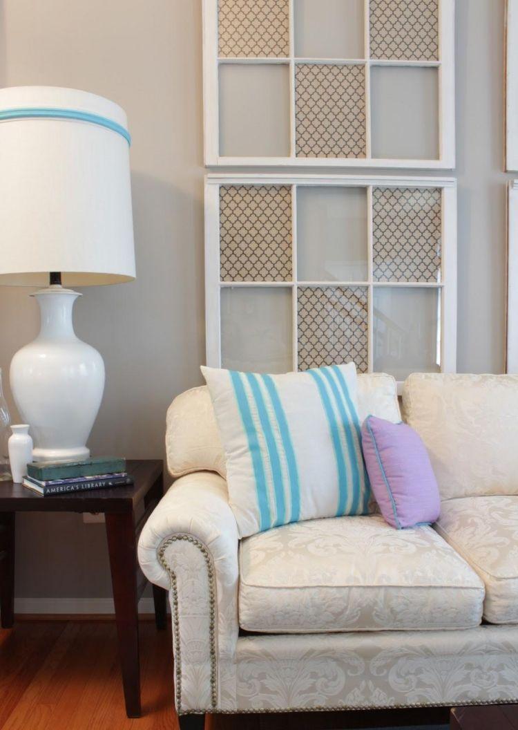 Alte Fenster Dekoration Wohnzimmer Couch Fensterscheiben Dekorieren Muster