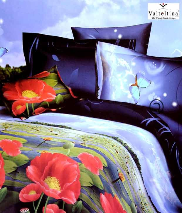 .  Valtellina Attractive Double Bed Sheet With 2 Pillow Covers, http://www.snapdeal.com/product/valtellina-attractive-double-bed-sheet/647988?pos=4;58  . I love this floral printed bedsheet as this beautifully designed bedsheet not only adds charm  to my mood but even to my bedroom decor too