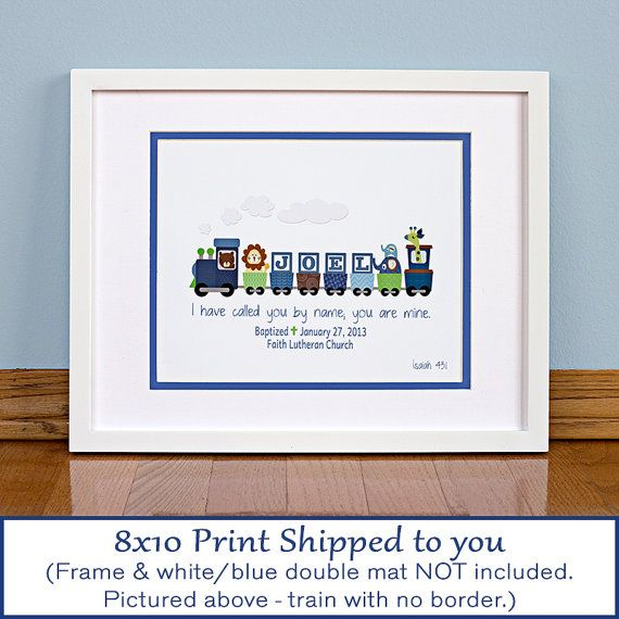 Boys personalized train with bible verse baptism gift boys personalized train with bible verse baptism gift christening gift baby gift negle Gallery