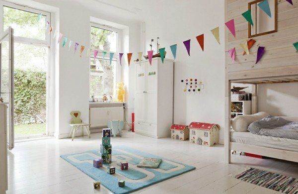 Deko Kinderzimmer Deko Ideen girlanden teppich Mica Pinterest - deko kinderzimmer