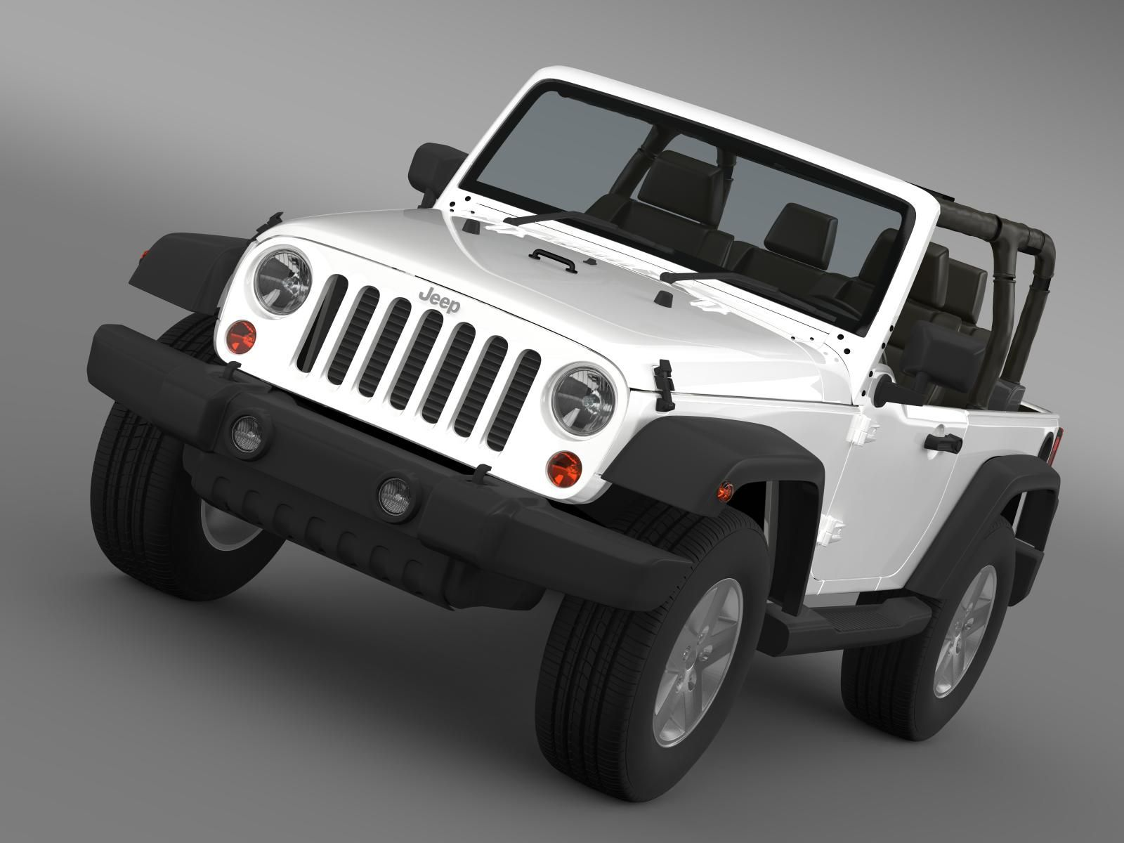 Jeep Wrangler Islander Edition 2010 3D Model (With images