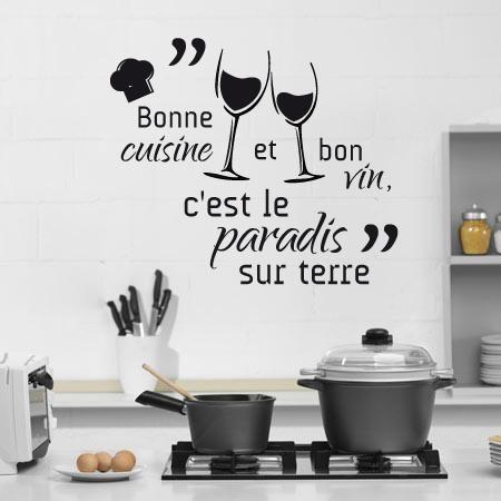 Stickers Bonne Cuisine Et Bon Vin Citations Citation Cuisine