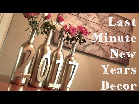(186) Last Minute New Years Décor ♥ Garland and Vases - YouTube
