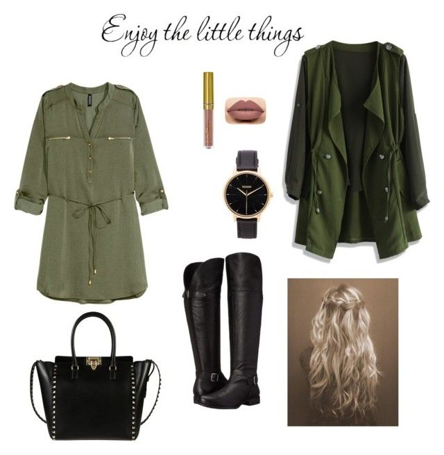 """""""Untitled #13"""" by denii-cristina on Polyvore featuring H&M, Naturalizer, Chicwish, Valentino, Nixon and Fall"""