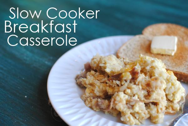 Slow Cooker Breakfast Casserole 1