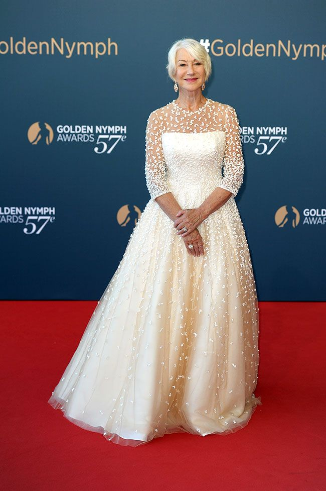 Helen Mirren Wears A Fairy Tale Sassi Holford Gown To The Festival