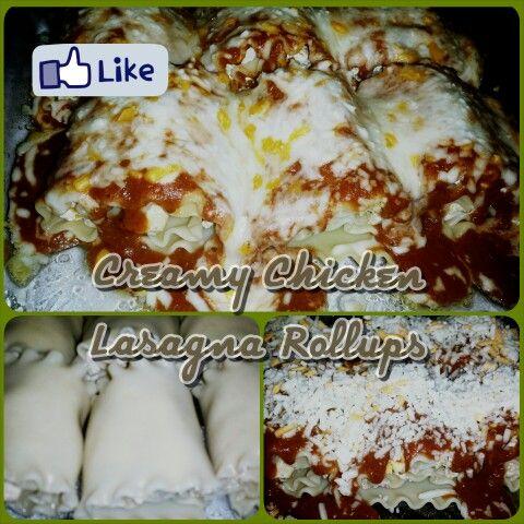 Creamy Chicken Lasagna Rollups