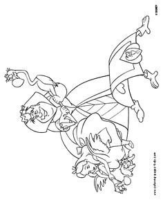 Queen Of Hearts Alice In Wonderland Disney Coloring Pages Color