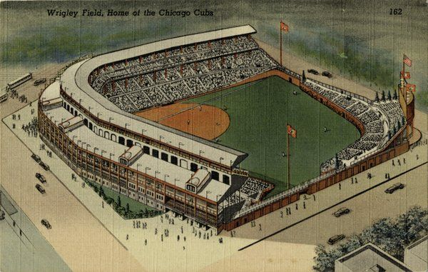 Old Ballparks On Twitter Wrigley Field Aerial View Chicago Cubs