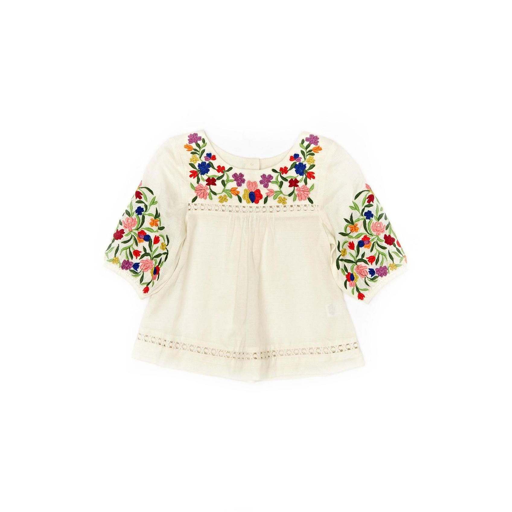 Peek embroidered top Baby Fashion Pinterest