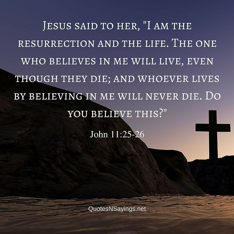 Quotes Of Jesus In The Bible: Bible Verses About Death