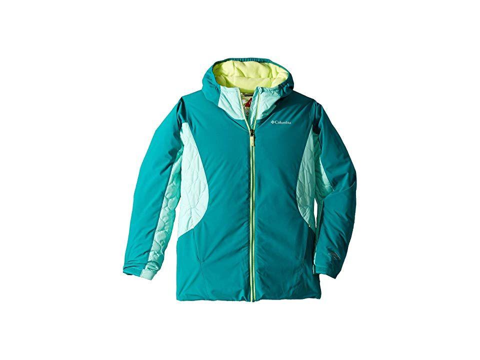 7d75927ff Columbia Kids Wild Childtm Jacket (Little Kids/Big Kids) (Emerald ...