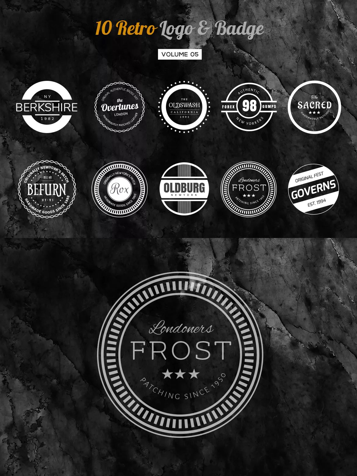 10 retro logo & badge template ai, eps, psd | badges - sticker