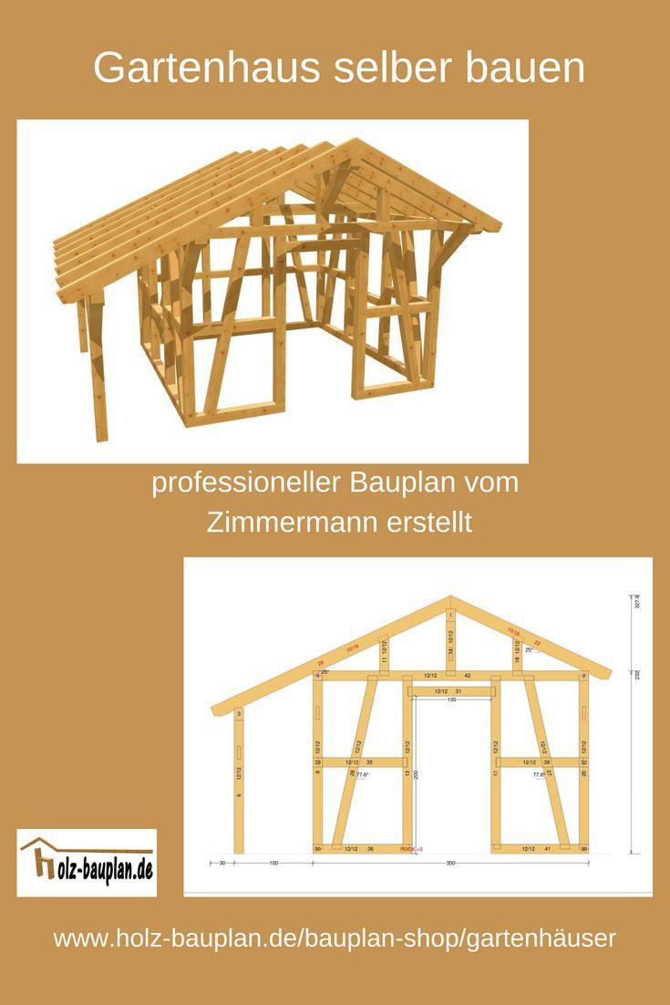 Gartenhaus selber bauen! Gartenhaus mit Satteldach