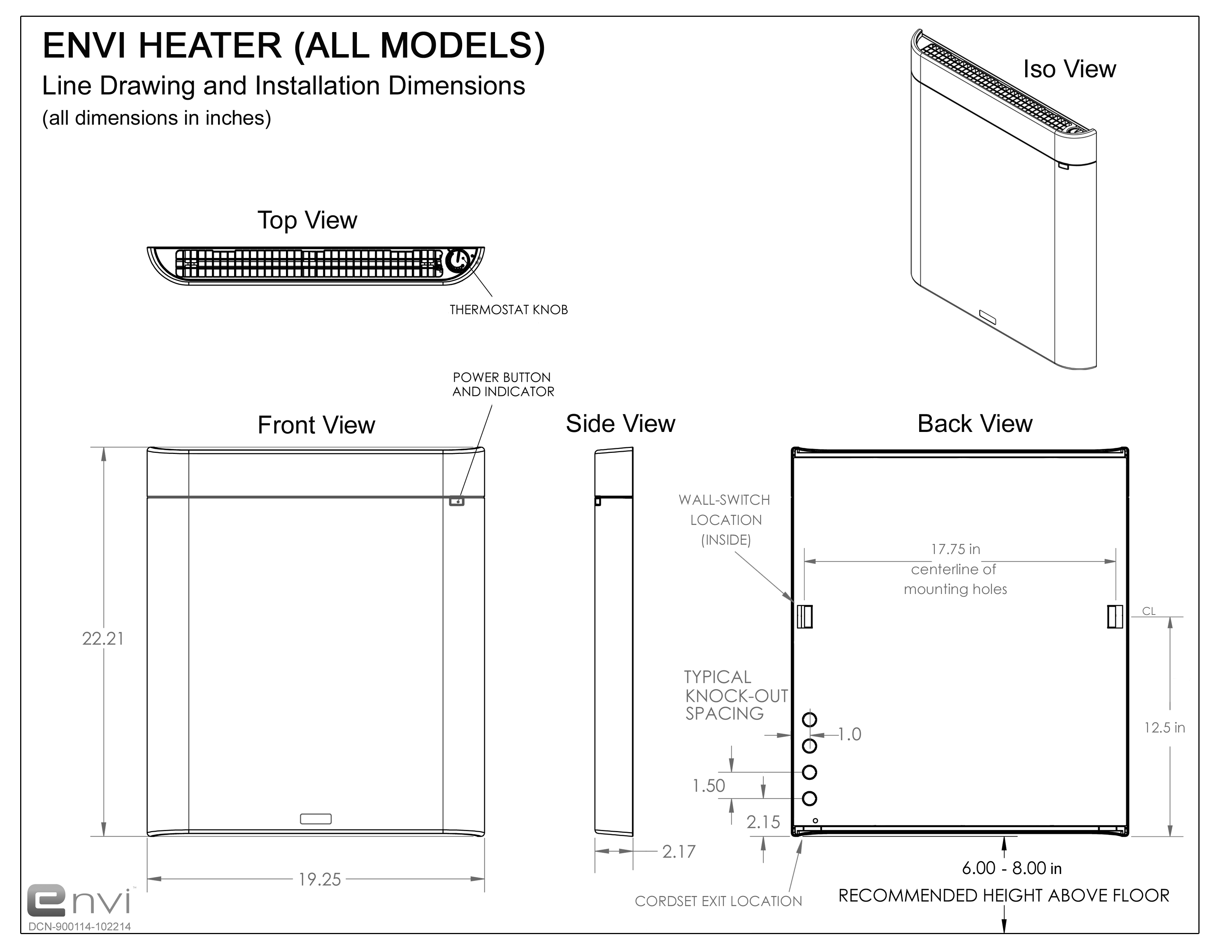 Envi heater line drawing with dimensions cut sheetg frequently envi heater line drawing with dimensions cut sheetg frequently asked questions ccuart Gallery