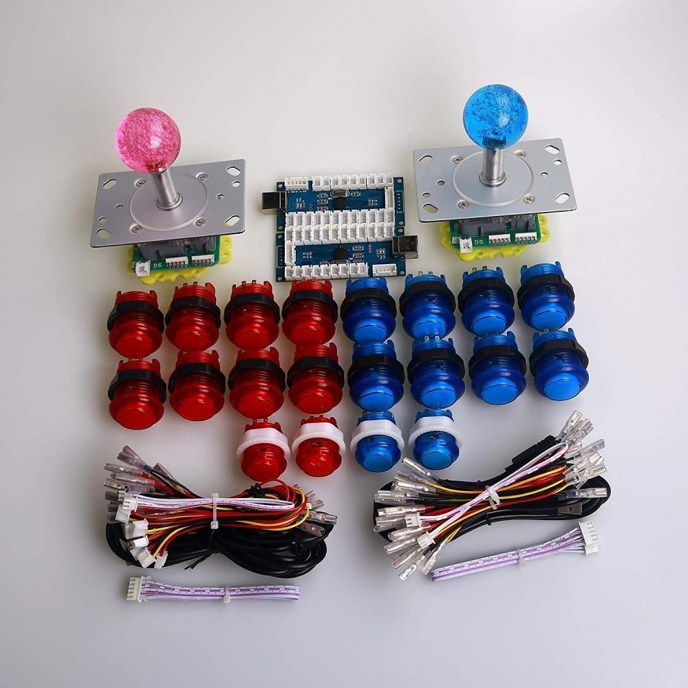 Dashtop LED Arcade DIY Parts 2x Zero Delay USB Encoder + 2/4