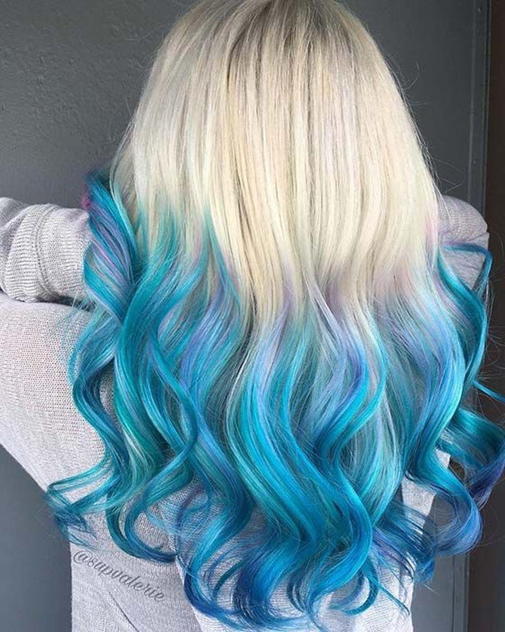 46 Wonderful Ombre Hair Color Ideas Blue Ombre Hair Ombre Hair