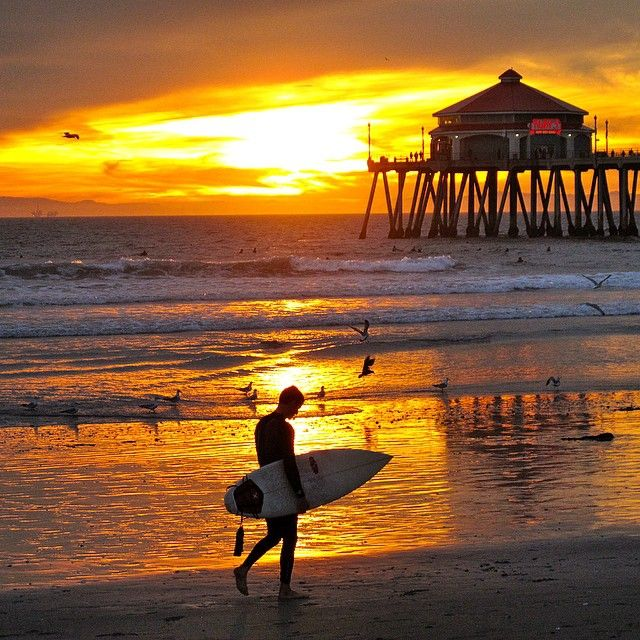 Best Spots To Watch A Surf City Sunset Los Angeles Diamond - The 6 best beaches around los angeles