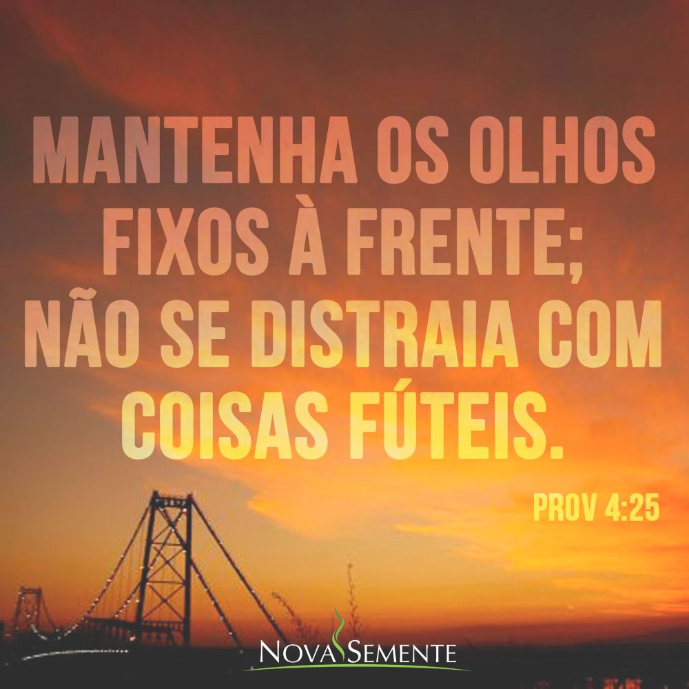 Top Nova Semente - Frases da Bíblia - Versículos -Deus - Provérbios 4  RT64