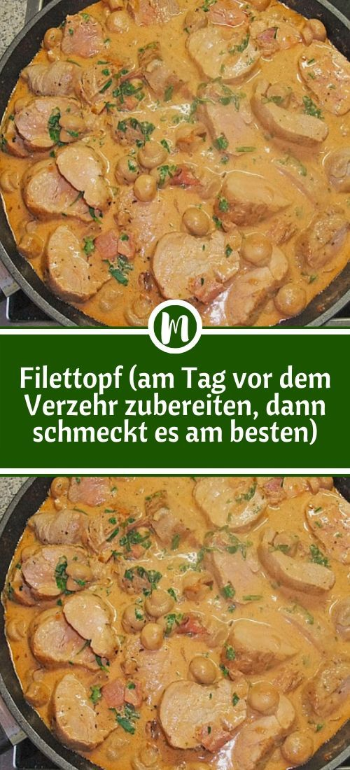 Photo of Ingredients 1 kg pork fillet (s) 100 g cat ham, in very …