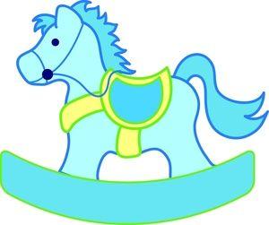 rocking horse clipart image a blue rocking horse for a baby boy rh pinterest com rocking horse clipart free baby rocking horse clipart