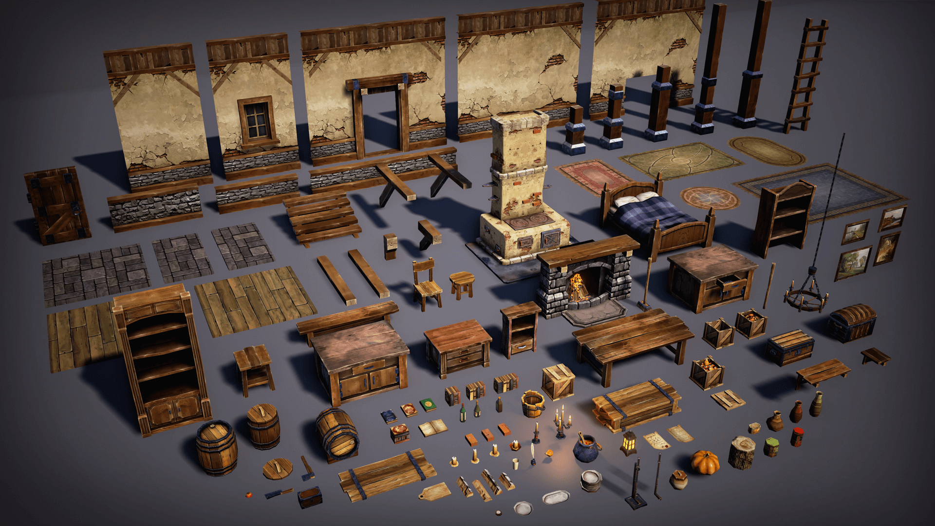 Modelling Buildings with Interior (Question) polycount