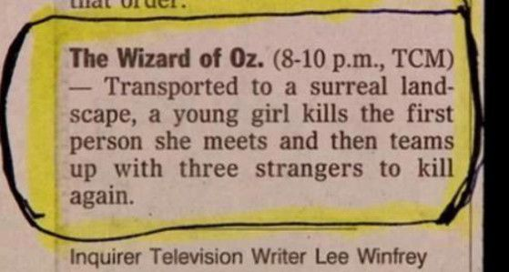 Best film description ever - The Wizard of Oz Synopsis from World's Best | E! Online