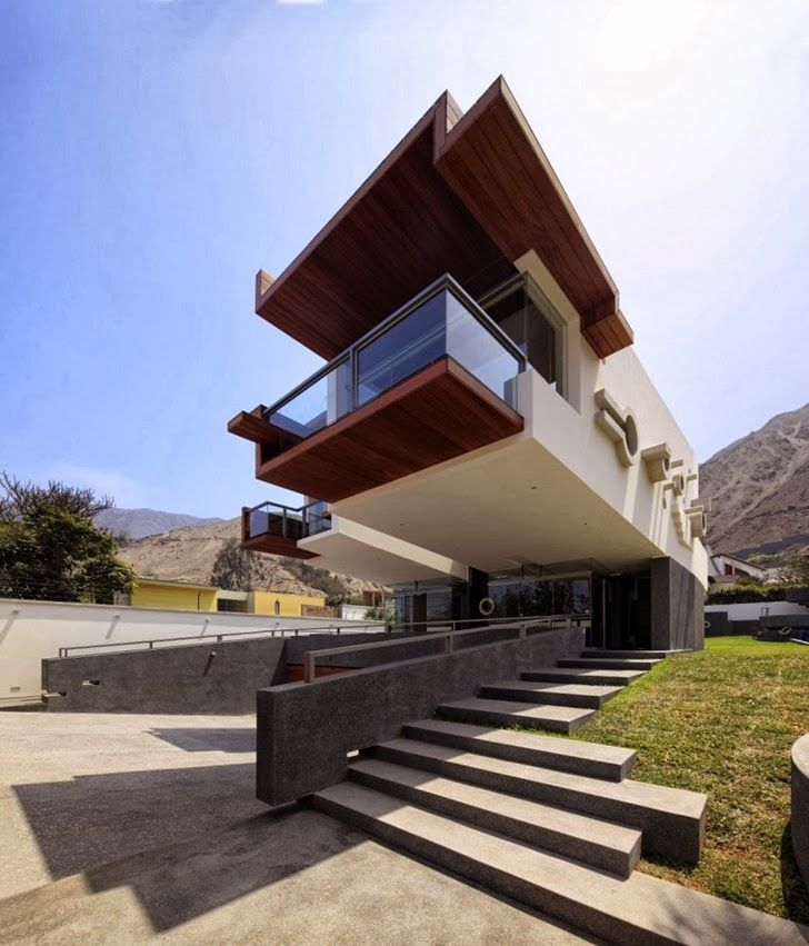 Stairs And Facade Of Extreme Modern House By Longhi Architects