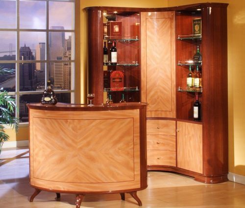Barcelona wine cabinet and bar set makes for perfect home for Small corner bar designs