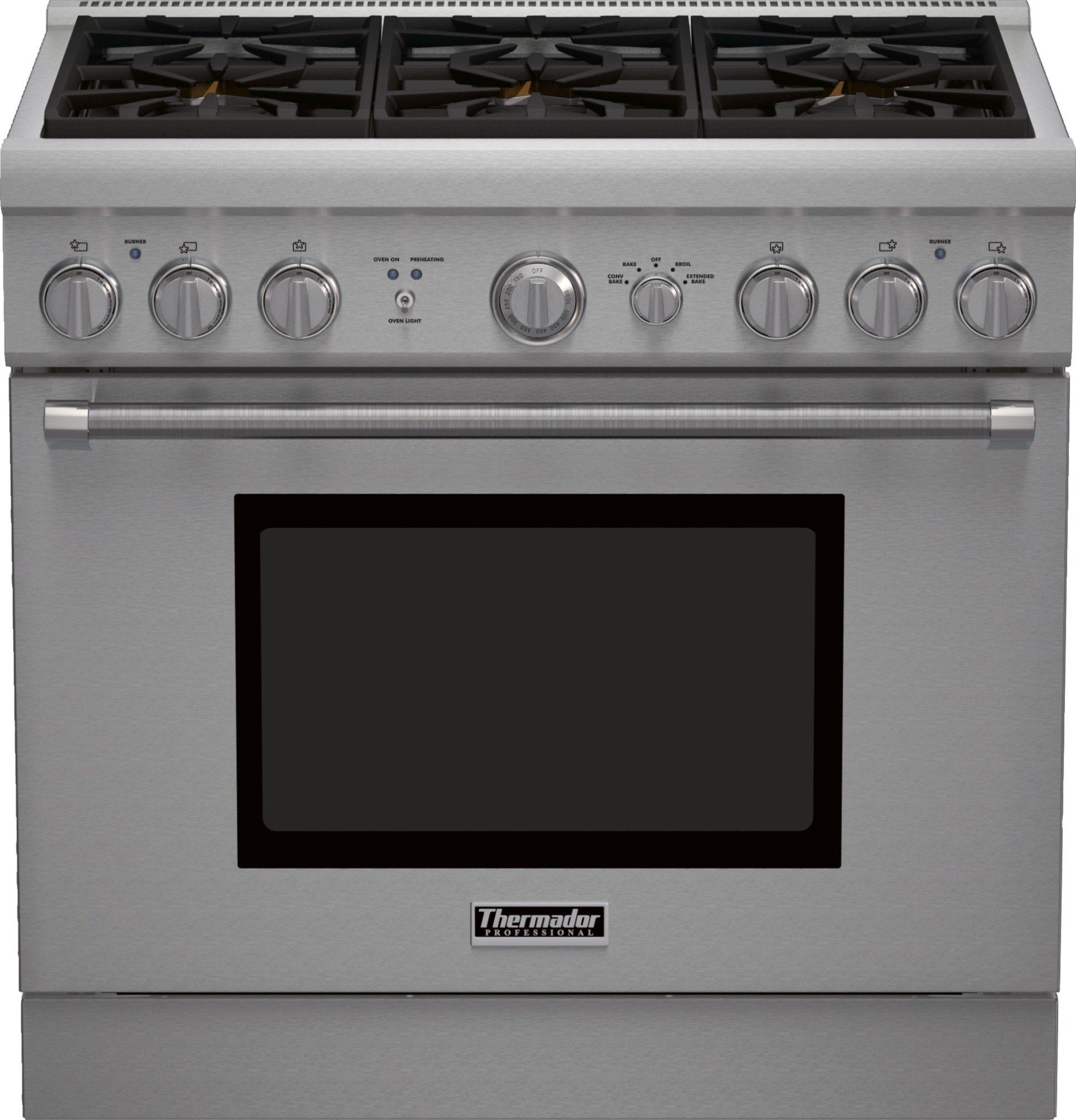 "PRG366GH | Thermador Pro Harmony 36"" Gas Range - Natural Gas"