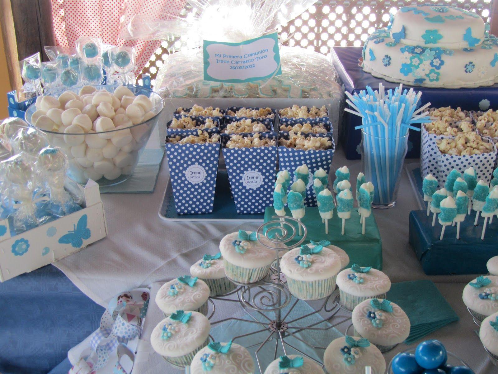 Resultado de imagen para ideas para mesas dulces azul for Ideas para mesas de chuches