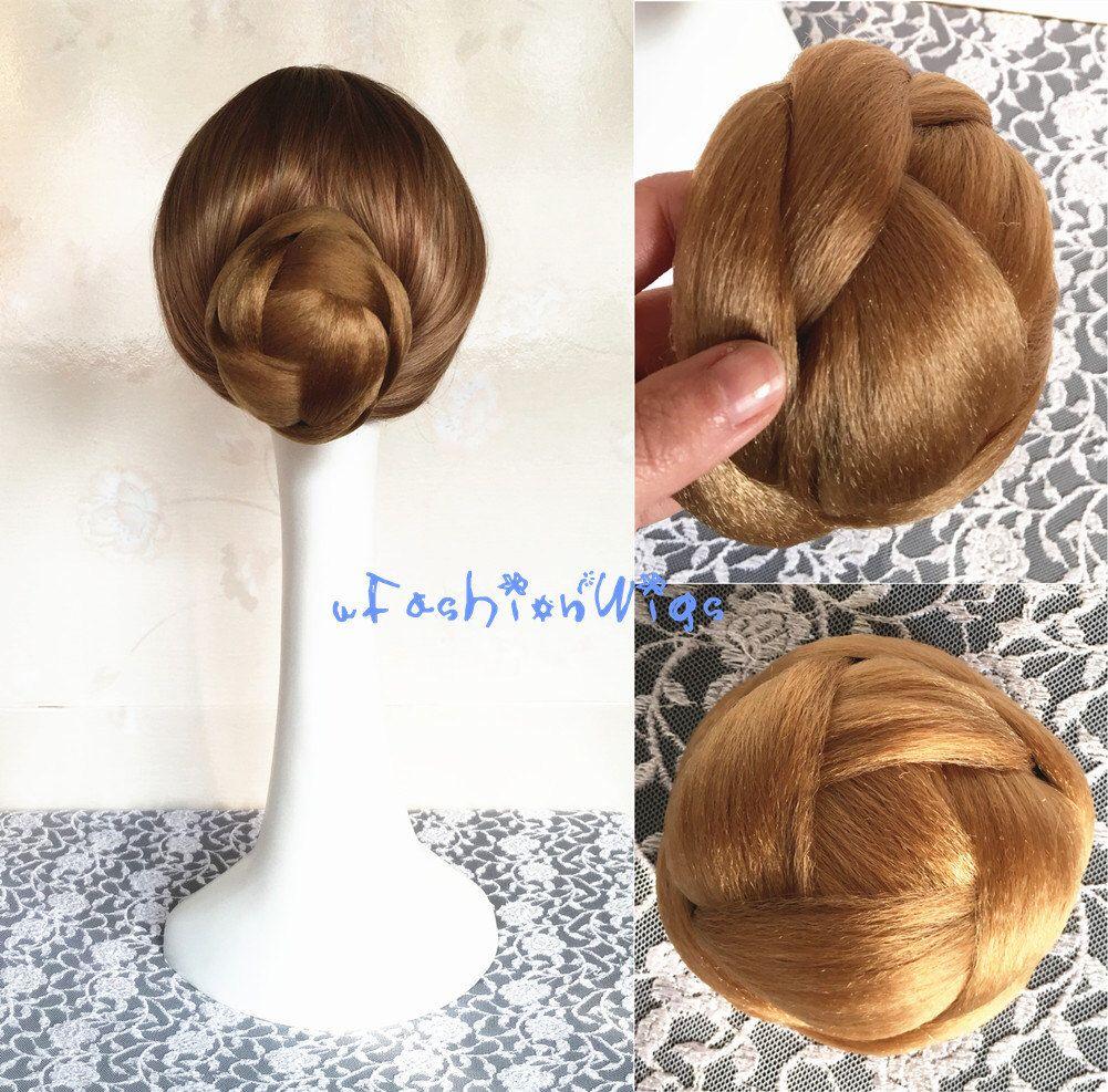 Bridal Braided Clip In Hair Bun Extension Wedding Hair Pieces