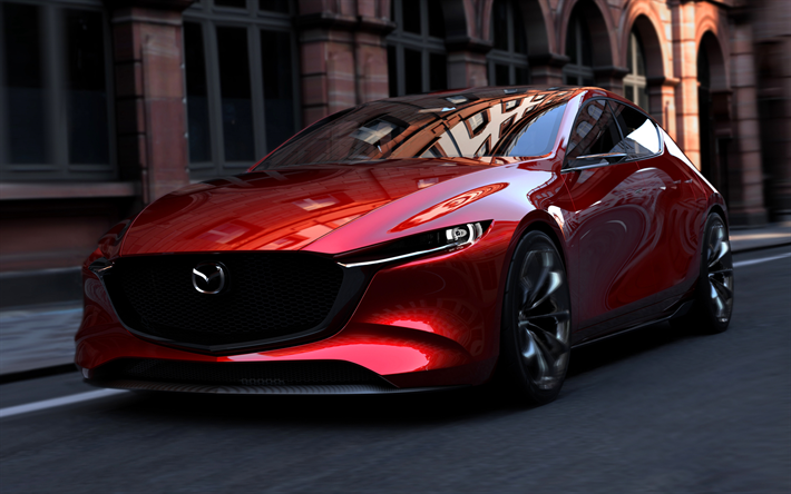 Download Wallpapers Mazda 3 4k 2018 Cars New Mazda 3 Tokyo Motor