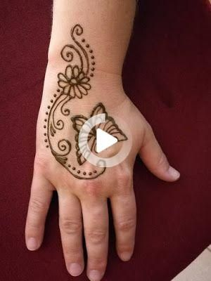 121 Simple mehndi designs for hands || Easy Henna patterns with Images #Designs #Easy #Hands