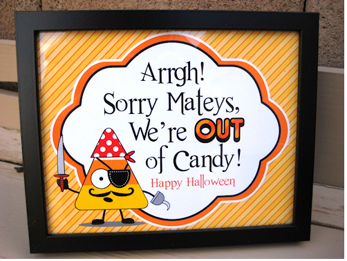 out of candy printable
