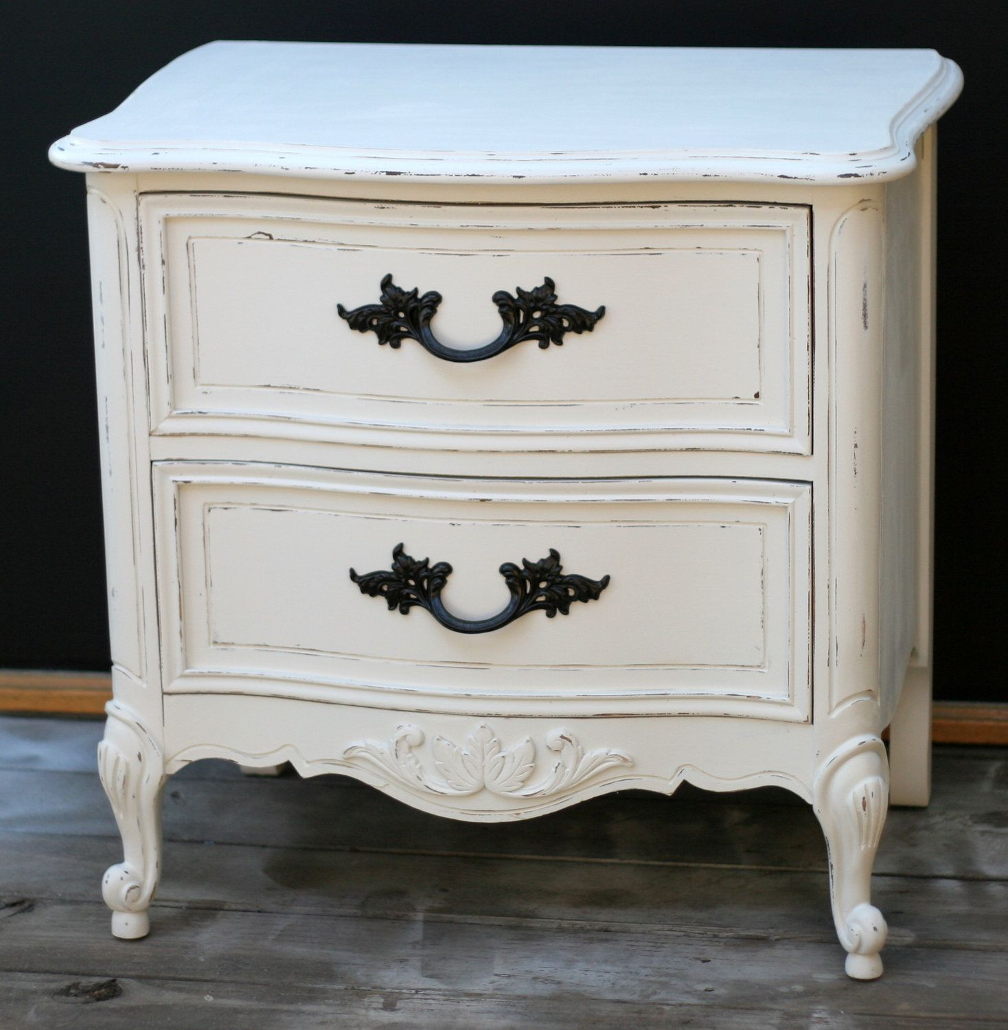 Second Hand Shabby Chic Bedroom Furniture Shabby Chic Nightstand French Provincial Distressed Vintage White