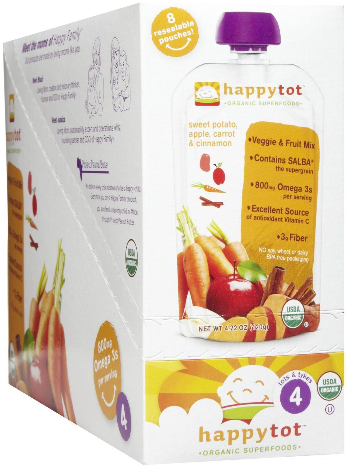 Happy Baby HappyTot Organic Superfoods Sweet Potato Apple