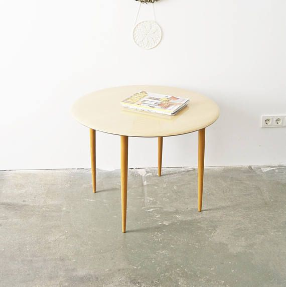 Coffee Table Mid Century Cocktail Table Round Side Table 50