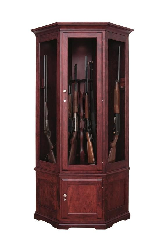 This American Made Corner Cabinet Holds 14 Guns. This Is Sure To Make The  Sportsman In Your Life Happy! Hunting Seasons Is Almost Here!