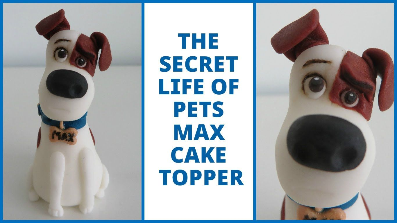 The Secret Life Of Pets Max Cake Topper Tutorial 6 Fondant Dog Cake Topper Tutorials Diy Thought Fondant Dog Secret Life Of Pets Animal Cake Topper